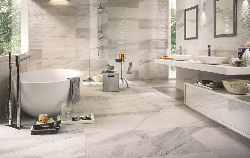 Ceramicporcelain Tile Vs Vinyl TilePlank Which Is Best - Best flooring to use in bathroom